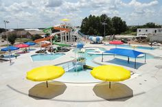 The Pauls Valley #Water Park has big slides, a lazy river, a lap pool and so much more! It's a great summer spot for swimmers of all abilities.