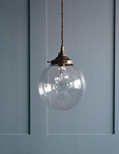 Globe Blown Glass Pendant Light at Rose & Grey Pendant Lighting Bedroom, Chandelier, Ceiling Pendant, Ceiling Lights, Pendant Lamp, Blown Glass Pendant Light, Plug In Pendant Light, Kitchen Pendants, Glass Pendants