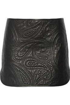 Alexander Wang Paisley quilted leather skirt | THE OUTNET
