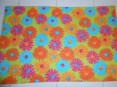 Summer Bright Gerbera Daisy 4pc Placemat Set by ColdStreamCrafts