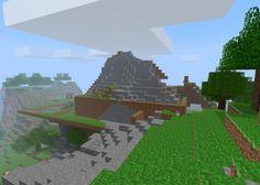 minecraft mountain castle ideas - Google Search
