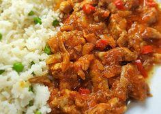 Sertésragugazdagon Chana Masala, Pork, Beef, Cooking, Ethnic Recipes, Red Peppers, Kale Stir Fry, Meat, Kitchen