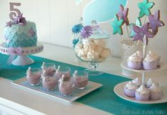 Pastel Mermaid themed birthday party via Kara's Party Ideas KarasPartyIdeas.com Cake, decor, favors, food, banners, and more! #mermaid #mermaidparty #mermaidcake #mermaidpartysupplies (8)