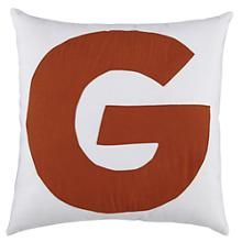 Kids Throw Pillows: Letter G Throw Pillow in Throw Pillows | The Land of Nod