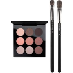 MAC Eye Shadow Dusky Rose Times Nine Set ($82) ❤ liked on Polyvore featuring beauty products, makeup, no color, glossier makeup, mac cosmetics makeup, polish makeup, shadow brush and palette makeup