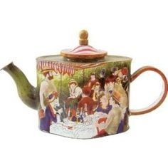 Charlotte di Vita The Boating Party Lunch Miniature Enamel Teapot 1071047