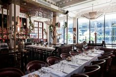 Tamarina Miami, USA - restaurant & hotel interiors & custom furniture - commercial - curved purple leather chairs and curved banquets, brass & glass shelve Perth Bars, Perth Wedding Venues, Hotel Interiors, Custom Furniture, Shed, Table Settings, Restaurant, Leather Chairs, Purple Leather