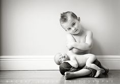 OMG! I'm so doing this with my nephew and his newborn sister! I love this SO much!