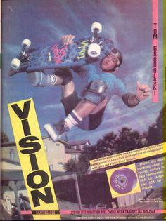 Vision Vintage Skateboard Ad