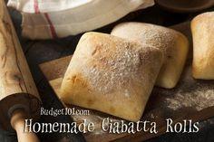 Budget101.com - - Homemade Ciabatta Buns | Make Your Own