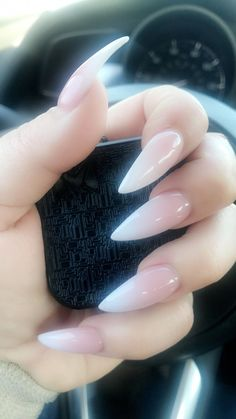 Long french tip nails, french stiletto nails, ombre french nails, cof Long French Tip Nails, French Stiletto Nails, Ombre French Nails, Acrylic Nails Stiletto, Pointy Nails, Long Acrylic Nails, Long Nails, Gel Nails, Summer Stiletto Nails