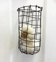 Wall Hanging Wire Basket by CharestStudios on Scoutmob Shoppe