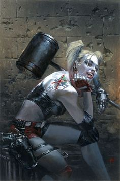 Harley Quinn #1 variant cover by Gabriele Dell'Otto *