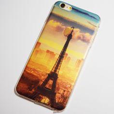 Paris, France Eiffel Tower in the Clouds iPhone 6 Plus / 6S Plus Transparent Soft Case