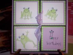 Unfrogettable Birthday by FRITZISKIDS - Cards and Paper Crafts at Splitcoaststampers