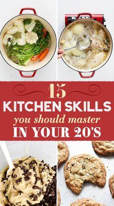 15 Kitchen Skills You Should Master In Your Twenties