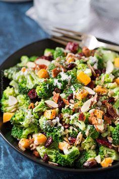 RecipesFeedFood.Com | Healthy Recipes | CRANBERRY ALMOND BROCCOLI SALAD