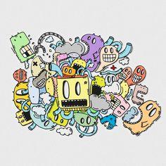 Doodle art, posca, illustration