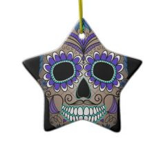 Sugar Skull Day of the Dead Ornaments