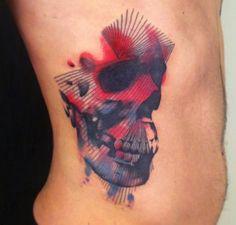 Skull Tattoos 49 - 80 Frightening and Meaningful Skull Tattoos   <3