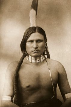 Wolf Voice. Photographed in 1878 by L. A. Huffman.