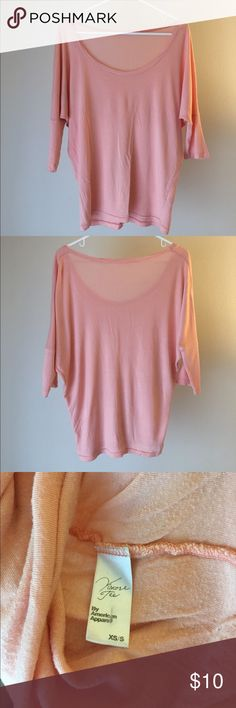 Peach viscose tee Slinky, soft viscose tee with dolman sleeves. Perfect for spring and summer. American Apparel Tops Tees - Short Sleeve