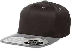 Flexfit Square Check Dark Grey Grey Wooly Combed Stretchable Fitted Cap Basecap