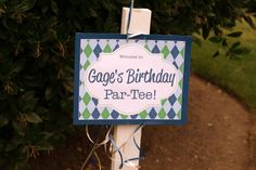 Golf party welcome sign #golf #party