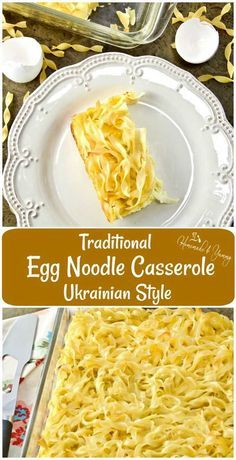 Traditional Egg Noodle Casserole Ukrainian Style is a recipe from my childhood. … Traditional Egg Noodle Casserole Ukrainian Style is a recipe from my childhood. Egg Noodle Recipes, Pasta Recipes, Cooking Recipes, Recipes With Egg Noodles, Ukrainian Recipes, Russian Recipes, Ukrainian Food, Slovak Recipes, Czech Recipes