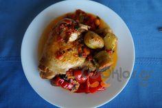 Κοτόπουλο κοκκινιστό με λαχανικά