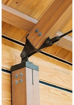 + tie rod truss system by Timber & Millwork + tie rod truss system by Timber & Millwork Timber Frame Outdoor Living Homestead Timber… Timber Frame Outdoor Living Homestead Timber Frames Crossville Tennessee Timber Frame Outdoor Living H Steel Trusses, Roof Trusses, Wood Steel, Wood And Metal, Wood Wood, Wood Architecture, Architecture Details, Victorian Architecture, Timber Structure