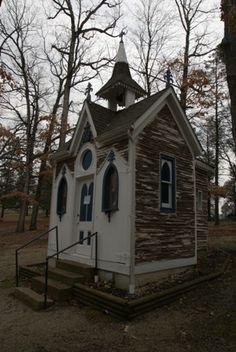 Chapel - Our Lady of Sorrows in Starkenburg, Missouri River Scenic Highway 94 - Katy Trial in Portland, Shrine of