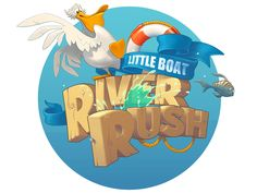 Little Boat River Rush - dynamic boat rider (supports iCade, more game controllers) - Touch Arcade Bg Design, Game Logo Design, Icon Design, Screen Design, 2 Logo, Bold Logo, Typography Logo, Game Gui, Game Icon