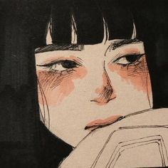 imagen descubierto por 𝐜𝐡𝐨𝐜𝐨.. Descubre (¡y guarda!) tus propias imágenes y videos en We Heart It Pretty Art, Cute Art, Aesthetic Art, Aesthetic Anime, Aesthetic Black, Fuchs Illustration, Arte Lowbrow, Arte Indie, Arte Sketchbook