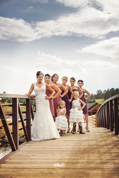 Bringin' the sass. ... The flower girl on the right is THE BEST. So funny! - From a wedding I helped photograph at the Evergreen Lakehouse in Evergreen, Colorado.