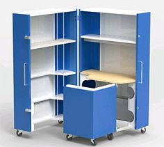 Foldaway Office , bed etc ! Awesome spacesaving - cool!     Kenchikukagu series