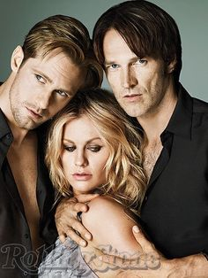 Alexander Skarsgård Stephen Moyer and Anna Paquin in Rolling Stone.