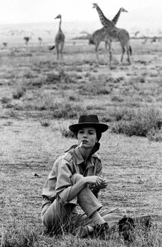 Elsa Martinelli on safari, 1960s