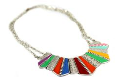Collier triangle aztèque #bijoux ethniques ethnic jewelry bijouxcherie.com