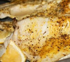 Mustard and Parmesan Recipe for Baked Trout