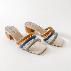 heel height Full padded sole foam padded strap super comfy true to size, wide feet go one size up Wide Feet, Sangria, Strap Heels, Indiana, Heeled Mules, Footwear, Sandals, Fashion, Moda
