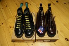 Monkey Boots - Solovair & Fred Perry/George Cox, Made In England by NPS
