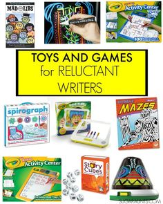 """Toys and game ideas for kids who are reluctant writers, and """"hate"""" handwriting."""