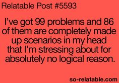 This is my problem...my mind creates problems