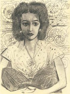 Artwork by Pablo Picasso - Inès assise, Pablo Picasso Drawings, Kunst Picasso, Art Picasso, Picasso Paintings, Art Drawings, Picasso Portraits, Picasso Prints, Picasso Sketches, Henri Matisse