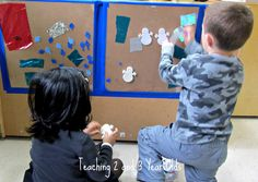 Teaching 2 and 3 Year Olds: Sticky Table....Sticky Wall!