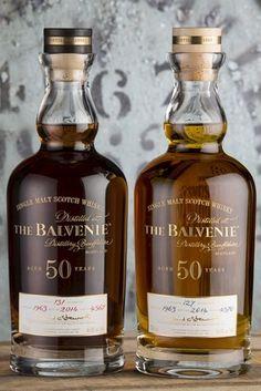 William Grant & Sons has released two limited-edition 50-year-old expressions of its The Balvenie single malt Scotch whisky.