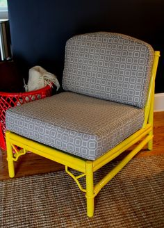 my mom has some rattan furniture she offered me & I kept seeing it in a bright yellow- JUST like THIS!