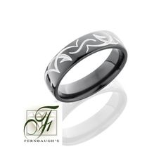 Zirconium Mens Wedding Band