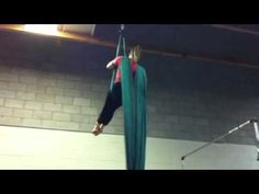 Aerial Silks: tick tock to knot drop different method to get into frog foot cross behind.  knot drop at the end